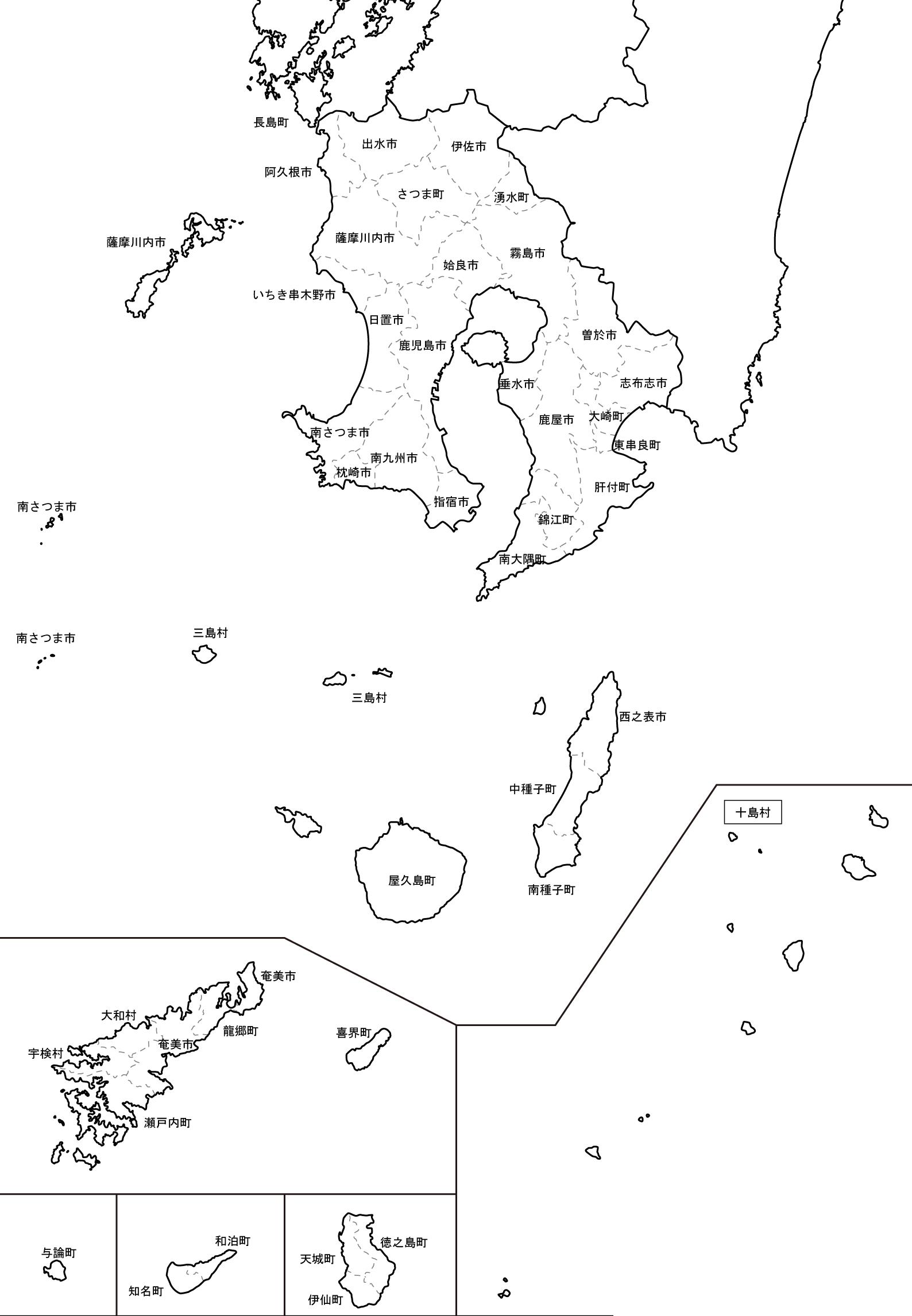 鹿児島地図